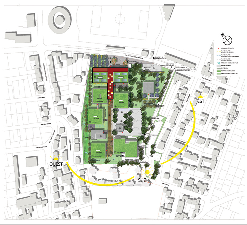Plan lycée Darius Milhaud